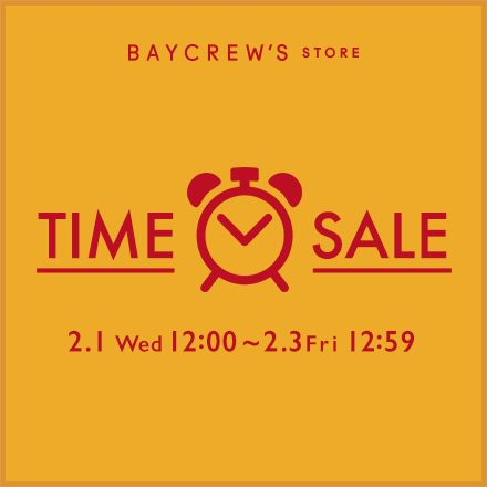 BAYCREW'S STORE_TIME SALE_440×440のバナーデザイン