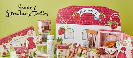 afternoon tea_Sweet Strawberry Teatime_460×200のバナーデザイン